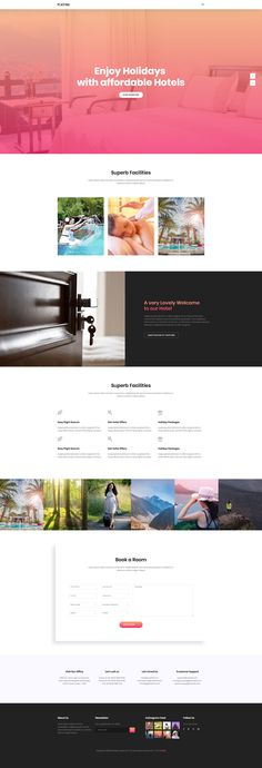 Platina is a colorful and free travel agency website template. It is a one page HTML template which is ideal choice for travel, booking related websites. Platina free HTML template based on Bootstrap 3 framework. Travel Website Templates, Free Html Templates, Travel Agency Website, Web Development