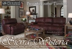 Come in for a test ride on some New Flexsteel Motion Leather Furniture! www.SierraWisteria.com