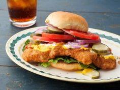 Breaded Pork Tenderloin Sandwich : Recipes : Cooking Channel