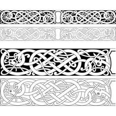 New wood carving patterns viking Ideas Norse Tattoo, Celtic Tattoos, Viking Ship Tattoo, Celtic Knot Tattoo, Wood Carving Patterns, Carving Designs, Celtic Symbols, Celtic Art, Celtic Knots