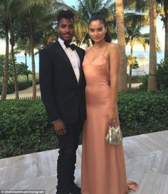 Moved on: Shanina and fiance DJ Ruckus attended the wedding of his publicist in Florida last week