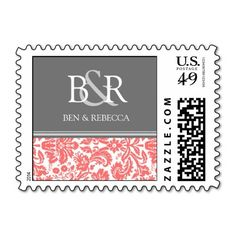 Coral Grey Damask Monogram Wedding Stamps we are given they also recommend where is the best to buyThis Deals          Coral Grey Damask Monogram Wedding Stamps today easy to Shops & Purchase Online - transferred directly secure and trusted checkout...