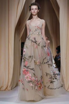 Love how he slowly builds towards the modern and pairs with light weight material! Valentino Couture Spring Summer 2015 Paris