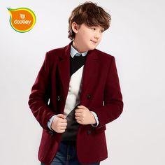 41.96$  Watch here - http://aligi1.worldwells.pw/go.php?t=32747904690 - DOOLLEY Boy Wool Coats Kids Fashion Jacket Black Blue Red Children Autumn Winter Clothing Size 130-170 cm 41.96$