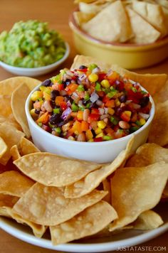 Up your snack game with this quick and colorful recipe for Texas Caviar that can be a dip, a salad topping, a taco filling and more! | recipe from justataste.com #recipes #superbowl #healthy #appetizers