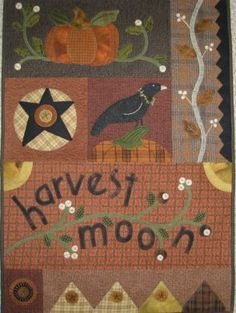 lots of wool applique on this Primitive Gatherings design