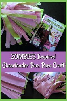Make this Disney Channel's ZOMBIES Inspired DIY Cheerleading Pom Pom Craft and cheer on Zed and Addison while watching the movie. Or use it when practicing the dances while listening to the soundtrack. Fun tissue paper craft for kids! Zombie Birthday Parties, Late Birthday, Zombie Party, Disney Birthday, Zombie Disney, Zombie 2, Disney Diy, Disney Crafts, Diy Gifts For Kids