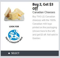 Save $3 When You Buy Two Canadian Cheeses - Printable Coupon - cheese http://www.groceryalerts.ca/save-3-buy-two-canadian-cheeses-printable-coupon/