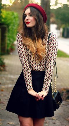 lovely #fall outfit and her ombre is spot on