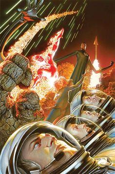 FANTASTIC FOUR #1 75th ANNIVERSARY VARIANT ROSS//Marvel/Alex Ross/ Comic Art Community GALLERY OF COMIC ART