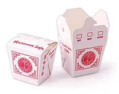 8 oz Fortune Take Out Boxes (Set of 30) ~ asianideas.com