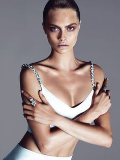 Cara Delevingne photographed by Mert Alas and Marcus Piggott and styled by…