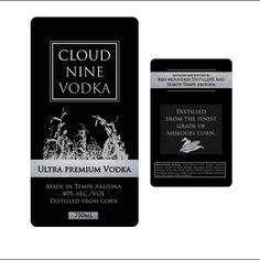 Ultra premium vodka label design by Wendy94