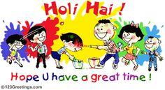 Holi Greeting Cards, Colorful ecards, Status Picture, Wallpapers, Photos