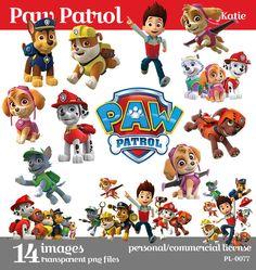 SALE 50% OFF Paw Patrol Instant Download cilipart digital png files PL-0077