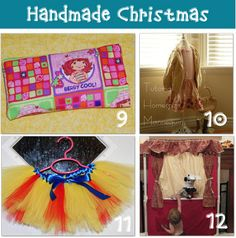DIY gifts....I especially love those little sock stick horses! Talk bout DARLING! Homemade gifts are always much more fun!