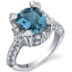Peora.com - London Blue Topaz Ring Sterling Silver Oval Shape 3 Carats SR9980, $44.99 (http://www.peora.com/london-blue-topaz-ring-sterling-silver-oval-shape-3-carats-sr9980)