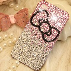HOW CUTE!!   Bling Swarovski Crystals iPhone Case Pink Sliver by cellcaseworks, $19.99