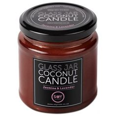 Soylites Coconut Candle - Amber Jar - Jasmine, Lavender