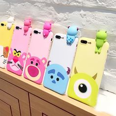 Disney Pixar Characters 3D Cartoon phone Cases  for iPhone 7 7 Plus  iphone 6 6s 6plus #Iphone #baseballhacks #Iphone6