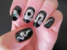 """Who knows, maybe this Snake Nail Art will be your """"lucky"""" manicure considering that 2013 is a Year of a Snake according Eastern Calendar. Check out how to do it, share, """"Like"""" it and leave your comments! And of course subscribe for future Nail Addiction tutorials :-) Thanks for watching and see you soon!    Also check out my other """"reptile"""" nail a..."""