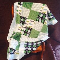 Handmade Stroller Size Baby Blanket by SouthernDreamsDesign