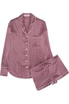 Olivia von Halle   Alba Natalia printed silk-satin pajama set   NET-A-PORTER.COM