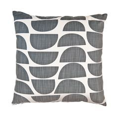 The strong 'bowls' print started out as a paper cutout, inspired by a love of Scandinavian design, and turned into this joyful, energetic print, Cushion Covers, Pillow Covers, Bowl Designs, Printed Cushions, Home Living, Living Room, Scandinavian Design, Decoration, Printing On Fabric