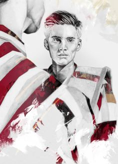Illustration.Files: Burberry Prorsum F/W 2014 Fashion Illustrations by Bobby Rogers