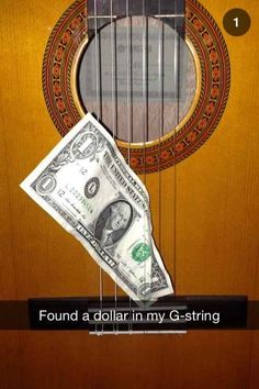 This musical Snapchat that is just pulling on your strings. | 29 Snapchats That Are Too Clever For Their Own Good