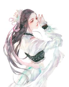 I love asian art and culture I want to collect everything I like! Music Drawings, Art Drawings, Ancient Beauty, China Art, Creative Pictures, Anime Art Girl, Beauty Art, Anime Angel, Japanese Art