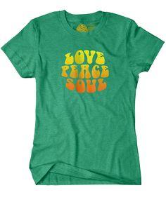 Love Peace Soul - Women's Heather Green Short Sleeve T-shirt – The Color Pop Shop