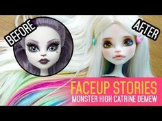 Repainting Dolls - MH Catrine DeMew - Faceup Stories ep.42 - YouTube