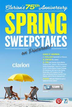 Start pinning your Clarion Spring Break essentials on Pinterest! Follow Clarion USA on Pinterest & Click to Enter! #pintowin #ClarionUSA #pinterest