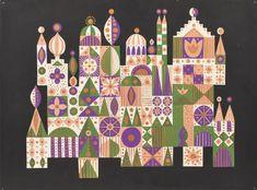 Mary Blair: it's a small world concept - hlow Love Illustration, Digital Illustration, Blair Castle, Eyvind Earle, Mary Blair, Principles Of Art, Mid Century Modern Art, Art Google, Architecture Art