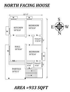 1200sq Ft House Plans, 20x30 House Plans, Little House Plans, 2bhk House Plan, Small Modern House Plans, Free House Plans, Model House Plan, House Layout Plans, Bedroom House Plans