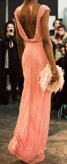 Coral gown / jenny packham