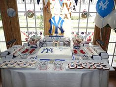My son's Yankee themed 1st birthday party!!!