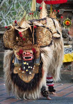 Ubud, bali, Indonésie - show de danse barong, performance balinaise traditionnelle à ubud, bali, Indonésie.