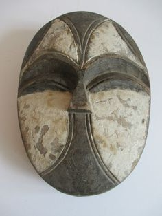 Atq Vtg Wood Carving African Tribal Primitive Luba Congo Kifwebe Mask Sculpture | eBay
