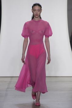 pink sheer  Prabal Gurung Spring 2018 Ready-to-Wear Collection Photos - Vogue