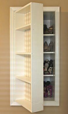 Exceptionnel Shoe Storage Hidden Behind Built In Shelving Dilettante | Doyenne Shoe  Storage Hidden,