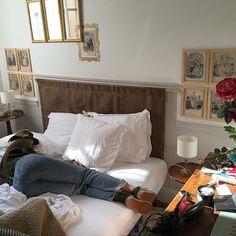 sleepy afternoon in the apartment, aka food coma post vegan feast