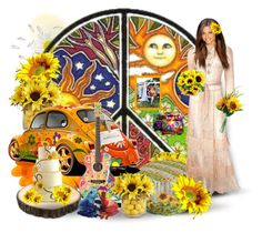 """""""Hippie Wedding"""" by joyce-williams ❤ liked on Polyvore featuring art"""