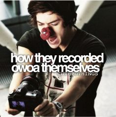How they recorded OWOA themselves❤❤❤❤❤
