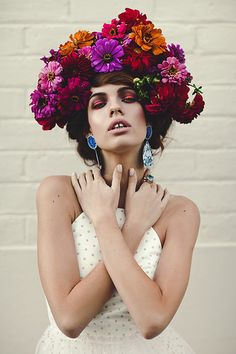 giant flower crown | photo by Caitlin Worthington