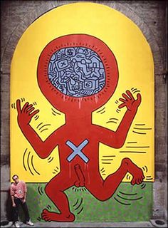 The Ten Commandments 4, 1985  Acrylic, oil on canvas  17.5 x 25 feet    Read an interview between Keith Haring and Sylvie Couderc about The Ten Commandments: http://www.haring.com/archives/interviews/index.html