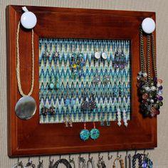 Window frame Jewelry organizer INSPIRE Pinterest Frame jewelry