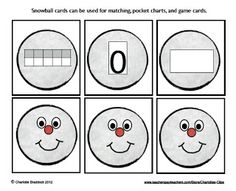 Classroom Freebies Too: Free Snow Ball Math Center Activity - Charlotte's Clips