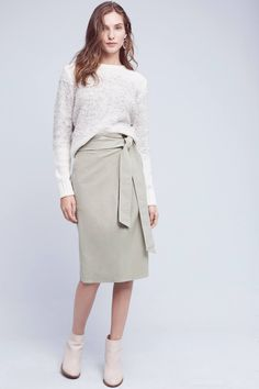 Slide View: 1: Felisa Paperbag-Waisted Skirt
